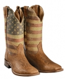 Boulet American flag cowgirl boots