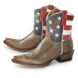 Cowgirl Boots American Flag