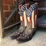 Cowgirl Boots with American Flag