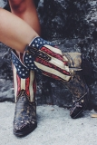 Cute American Flag Cowgirl Boots