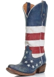 Distressed American Flag Cowgirl Boots