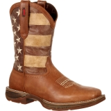 Faded American Flag Cowgirl Boots