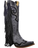 Black Rhinestone Cowgirl Boots for women