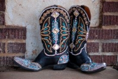 Embellished Cowgirl Boots with Rhinestones
