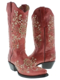 Pink Rhinestone Cowgirl Boots