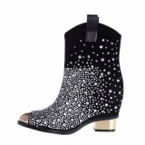 Black Cowgirl Boots with Bling