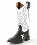 Black Cowgirl Boots with Crosses