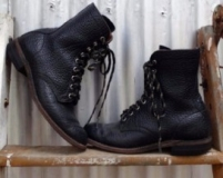 Black Cowgirl Boots with Lace