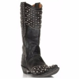 Black Cowgirl Boots with Studs