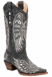 Black Distressed Cowgirl Boots