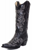 Black Sparkly Cowgirl Boots for Women