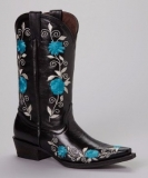 Black-and-Blue-Cowgirl-Boots