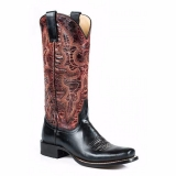 Black and Brown Cowgirl Boots