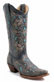 Black and Teal Cowgirl Boots