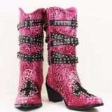 Pink and Black Cowgirl Boots