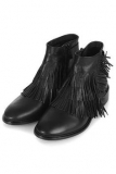 Black Fringe Ankle Boots Pictures