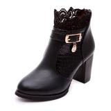 Best black winter boots for women with Heels