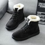 Cute Black Winter Boots Women