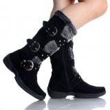Designer black winter boots women