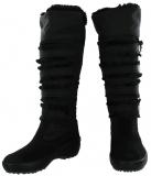 Insulated Tall black winter boots women
