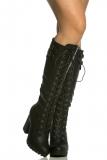 Thigh High black winter boots women