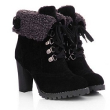 black winter boots for women fold over