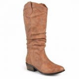 Brown Cowgirl Boots Wide Calf