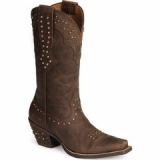 Brown Cowgirl Boots with Rhinestones