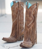 Brown Cowgirl Fringe Boots