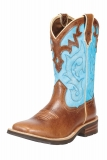 Brown and Blue Cowgirl Boots