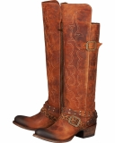 Knee High Brown Cowgirl Boots
