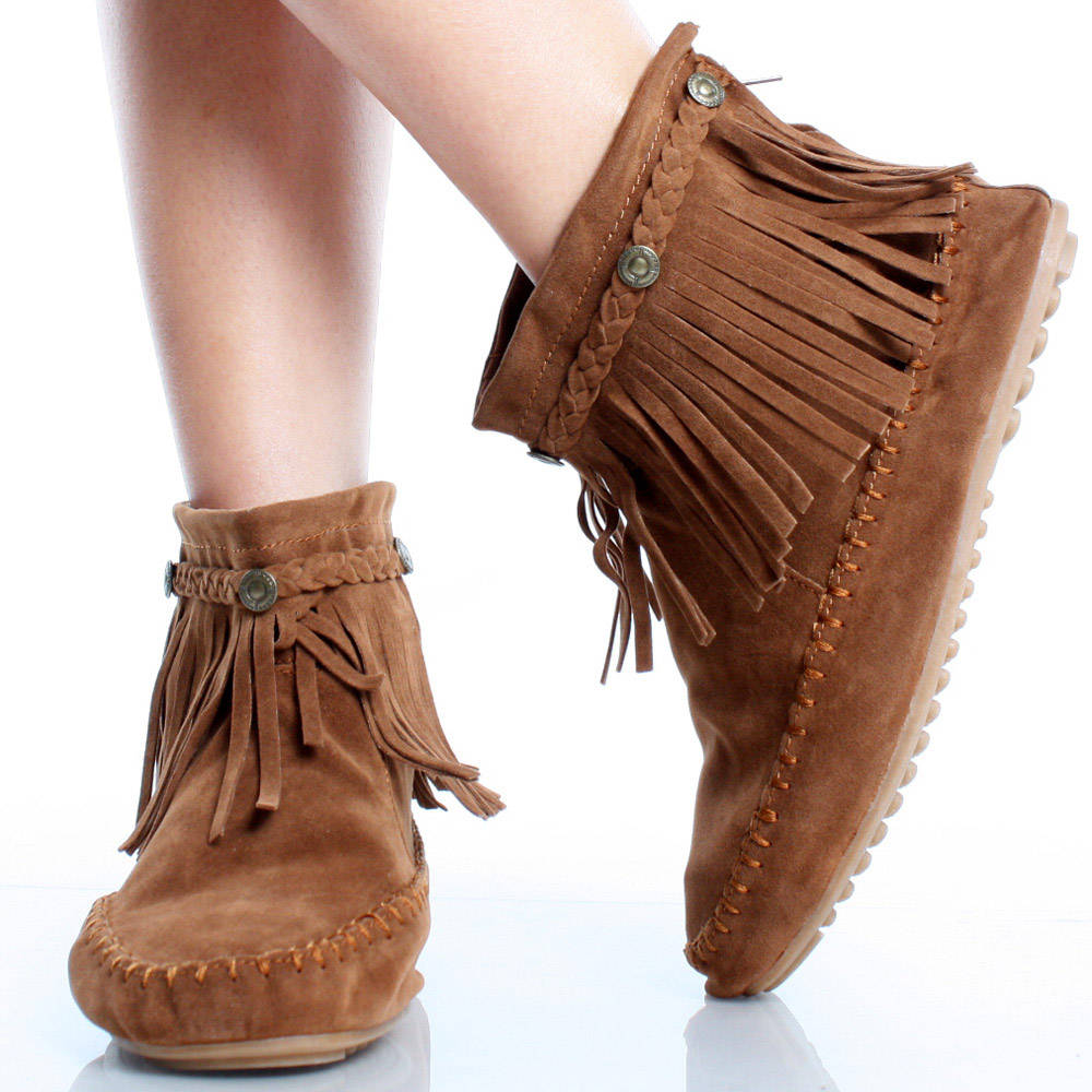 Ankle Moccasin Shoes Women