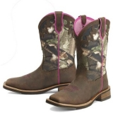 Pink Camouflage Cowgirl Boots