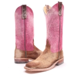 Pink Leather Cowgirl Boots