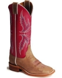 Pink Square Toe Cowgirl Boots