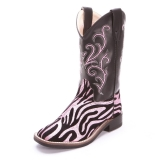 Pink Zebra Cowgirl Boots