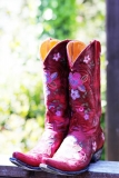 Pink and Purple Cowgirl Boots