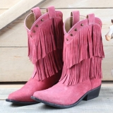 Smocky Mountain Pink Cowgirl Boots