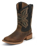 Back Square Toe Cowgirl Boots