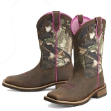 Camo Square toe cowgirl boots for Women
