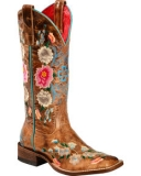 Womens Square Toe Cowgirl Boots