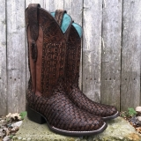 square toe lizard cowgirl boots