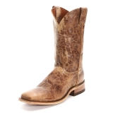 tan square toe cowgirl boots
