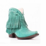 Blue Fringe Cowgirl boots