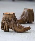 Short Fringe Cowgirl Boots