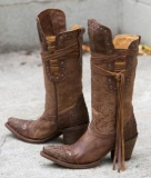 Tall Fringe Cowgirl Boots