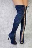Denim and Thigh High Boots
