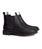 Flat Matte Black Ankle Boots for Women