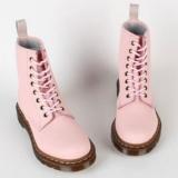 Baby Pink Combat Boots