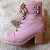 Combat Boots Pink